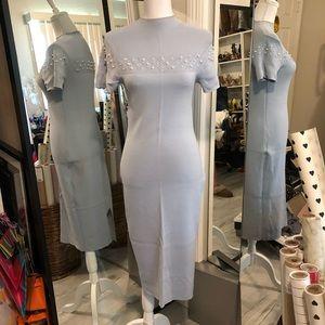 Eva Mendes NY & Co baby blue dress sz S
